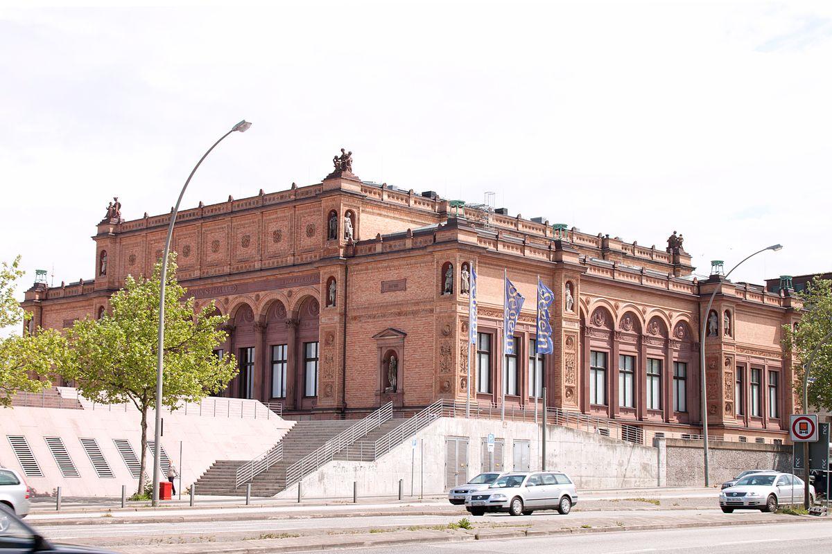 Der Gründungsbau der Hamburger Kunsthalle