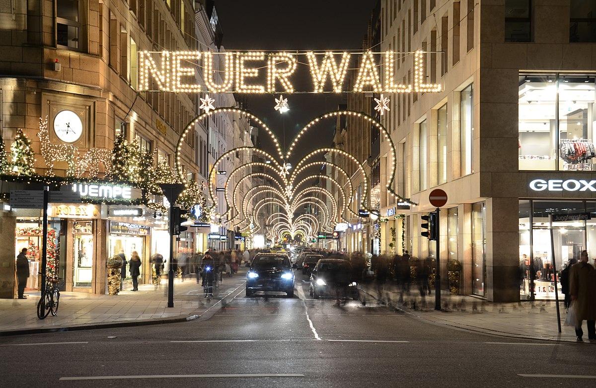 Der Neue Wall zur Weihnachtszeit