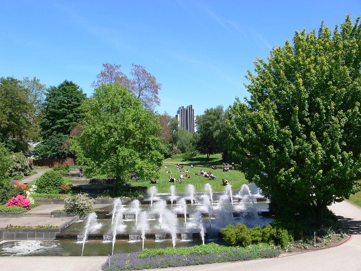 Springbrunnen in Planten un Blomen