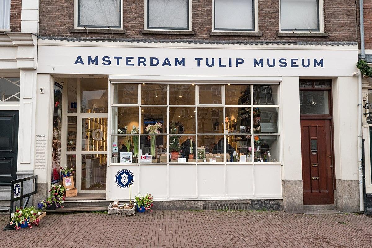 Der Eingang zum Amsterdam Tulip Museum
