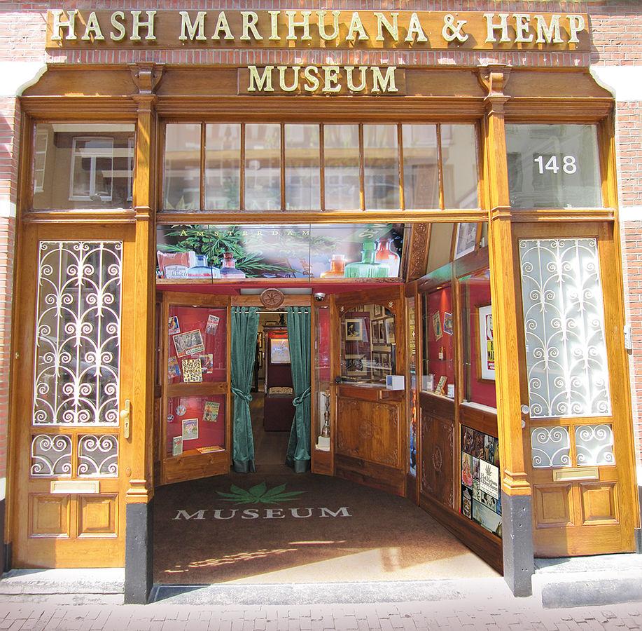 Der Eingang zum Hash, Marihuana & Hemp Museum