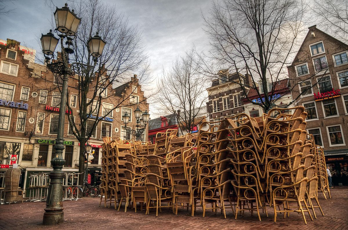Cafés auf dem Leidseplein