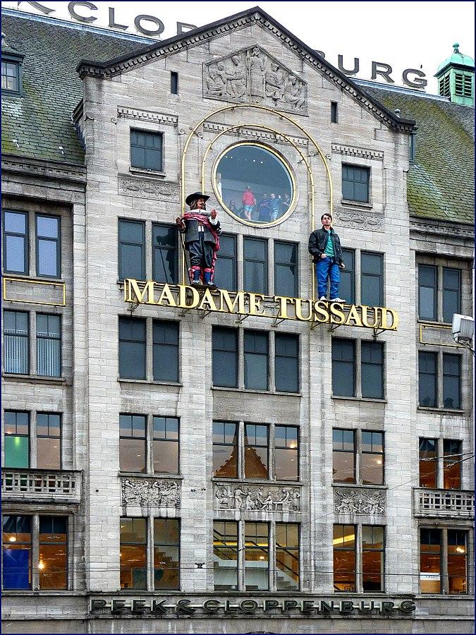 Das Gebäude von Madame Tussauds Amsterdam