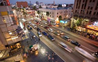 Der Hollywood Boulevard am Abend